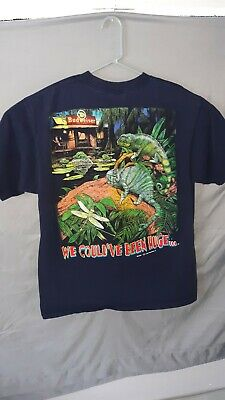 $ CDN55.67 • Buy Vintage 1997 Budweiser Frogs Iguanas Cabin Graphic T Shirt Tee XL 90s Vtg Cool