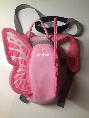 LittleLife Toddler Backpack With Rein - Pink Butterfly • 4£