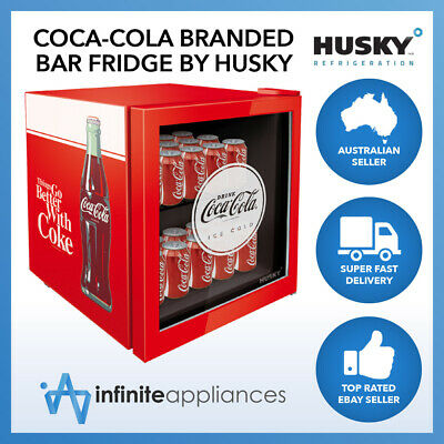 AU359 • Buy 46L Officially Licensed Coca-Cola Compact Mini Glass Door Bar Fridge By Husky
