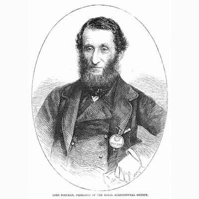£8.95 • Buy EDWARD PORTMAN President Of The Royal Agricultural Society - Antique Print 1862