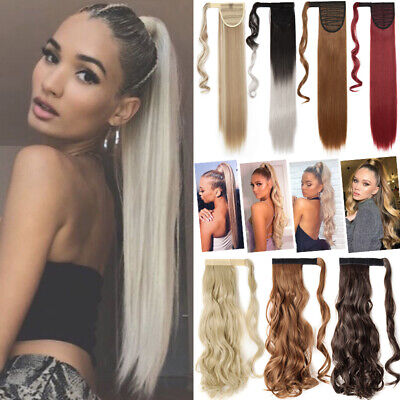 £8.92 • Buy UK Natural Hair Ponytail Clip In As Real Human Hair Extensions Wrap On Pony Tail