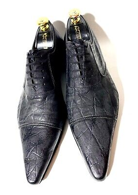 $ CDN873.02 • Buy Very Rare!!! Artioli Hand-Made Black Leather Shoes Size 45, UK-11, US-12