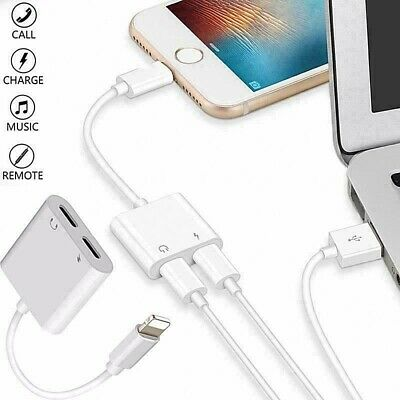 £3.49 • Buy 2in1 Lightning Headphone Audio & Charger Adapter Splitter For IPhone 7 8 X 11 12