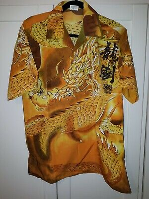 Chinese Dragon Shirt Size S Pit To Pit Is 22 Inch  • 1.40£