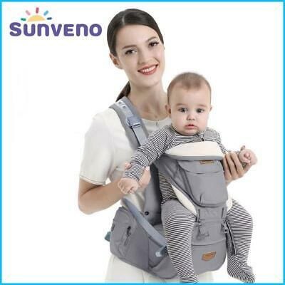 Ergonomic Infant Baby Carrier With Hip Seat Stool Adjustable Wrap Sling Backpack • 36.17£