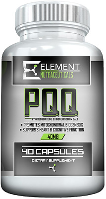 $ CDN28.76 • Buy PQQ - 40 Ct X 40 Mg - PYRROLOQUINOLINE QUINONE -  By Element Nutraceuticals