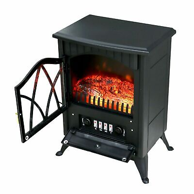 1850W Electric Fireplace Log Burning Flame Effect Stove Heater With Thermostat • 65.99£