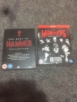 The Best Of Hammer Boxset [DVD] UK Exclusive Universal Monsters The Essential Co • 3£