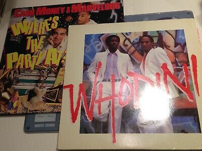 Hip Hop & Rap Pair Vinyl Lps Cash Money & Marvelous & Party Lp & Whodini 1988 Gb • 0.99£