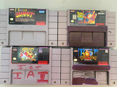 $ CDN26.11 • Buy Super Nintendo SNES Game Lot, 4 Authentic Games! Mickey Jammit Were Back Porky