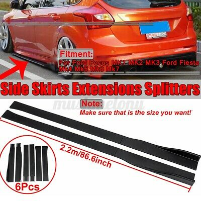 $58.99 • Buy 86.6'' Side Skirts Rocker Panel Lip Splitter For Ford Focus RS ST Fiesta Mondeo