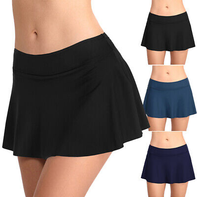 AU20 • Buy Bikini Bottom Short Sexy Holiday Mid Waist Wear Women Swim Skirt Casual Elastic