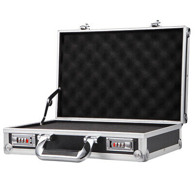$37.99 • Buy Small Aluminum Hard Mens File Briefcases With DIY Foam Travel Suitcase Toolboxes