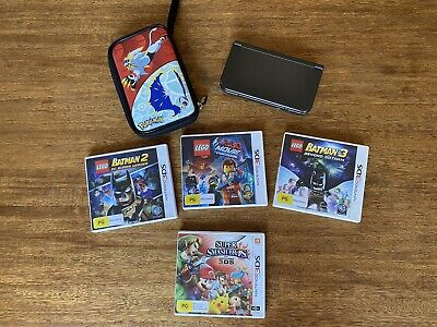 AU99 • Buy Nintendo 3DS XL, Metallic Black, 4 Games And Protective Case