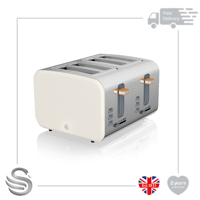 £59.99 • Buy Swan 4 Slice Nordic Toaster 1500W Soft Touch Housing Stainless Steel Matt Finish