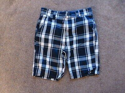 Boys Next Blue Checked Shorts Size 10 Years • 0.50£
