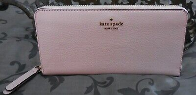 $ CDN96.90 • Buy Kate Spade ~JACKSON Leather Large Continental Zip Around Wallet~PINK~NWT $229