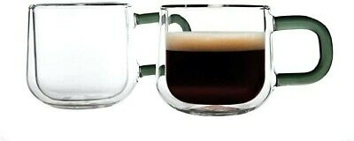Ravenhead Set Of 2 Double Walled Contemporary Glass 90ml Espresso Cups • 0.99£