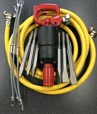 Chipping Hammer Soft Demolition Air Breaker Kit CP9 With New Steels And Hose  • 250£