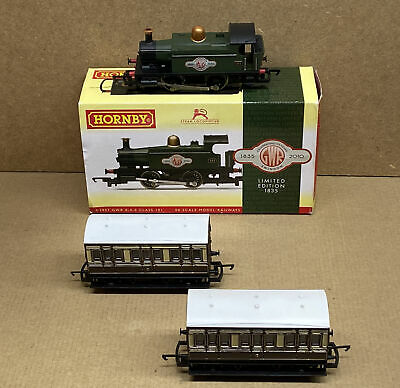 Hornby R 2957 GWR Class 101 Loco Limited Edition Of 1835 & Two 4 Wheel Coaches • 12.50£