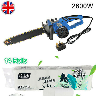 Industrial Type Electric  Chainsaw 16'' Bar 2600W Cutting Tool For Home & Garden • 51.69£