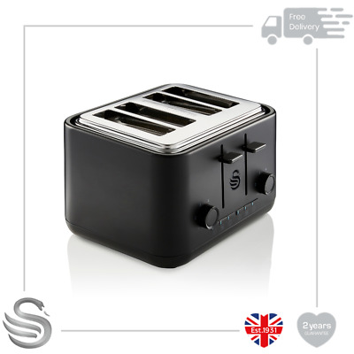 £59.99 • Buy Swan Stealth 4 Slice Toaster Variable Browning Controls Reheat Defrost Functions