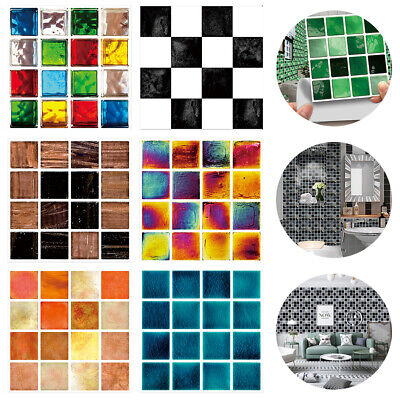 Kitchen Bathroom Tile Mosaic Stickers Self-adhesive Waterproof Home Wall Decors! • 5.39£