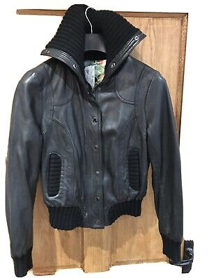 Ladies Ted Baker Soft Leather Jacket Size 10/12 • 45£