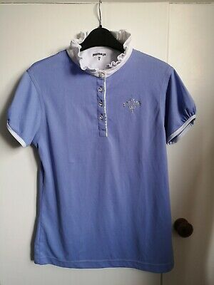 Just Togs Lilac Purple Show Shirt Diamante Sparkle Jumping Dressage Worn Once • 3£