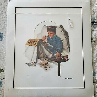 $ CDN229.65 • Buy Norman Rockwell Lithograph Print LE 160/750 Hand Signed The Cold 22x26