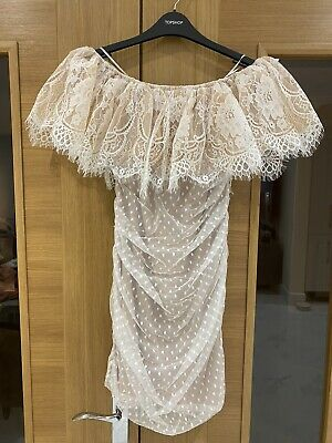 Dolls House Nude Overlay Dress Size M • 9.60£