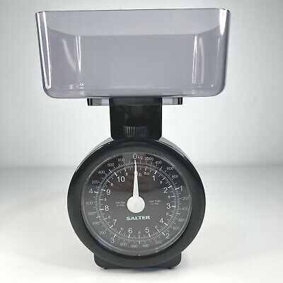 Salter Dietary Mechanical Kitchen Weighing Scales Max 5kg/11lbs Black • 4.99£