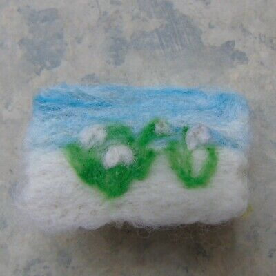 Handmade Needle Felted Snowdrops Brooch  Valentine Gift  Mother's Day Gift • 7£