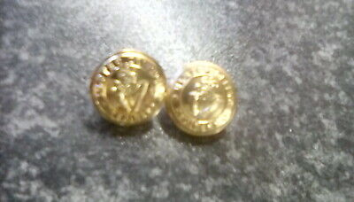 Ulster Defence Regiment Uniform Buttons, Two Of, Military Collectable Items. • 4.30£
