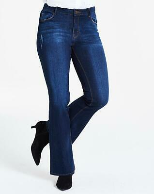 Simply Be Ladies Womens Stylish Casual Petite Indigo Short Length Bootcut Jeans • 11.99£