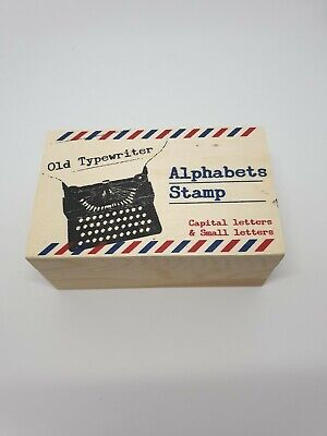 Box Of Alphabet Stamps. Capital And Small Old Typewriter Style • 4.70£