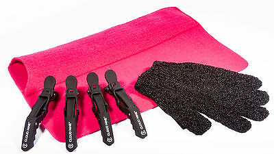 £8.99 • Buy Heat Protection Hair Glove, Pink Heat Proof Travel Mat  & 4 X Cloud 9 Clips