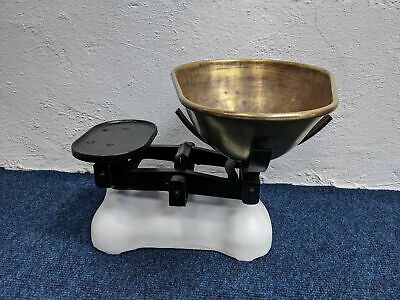 £46 • Buy Rustic Cast Iron And Brass Kitchen Scales