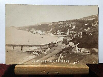 Postcard Ventnor Looking West Real Photograph Posted 1910 • 4.99£