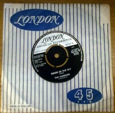 The Ramrods - Riders In The Sky / Zig Zag - 1960 UK London HLU9282 • 2.50£