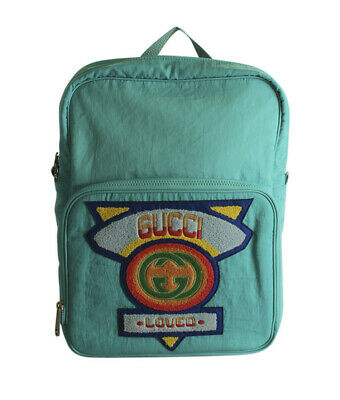 AU1176.62 • Buy  Gucci 80's Patch Blue Nylon Backpack