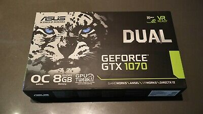 $ CDN606.05 • Buy Asus GeForce GTX 1070 DUAL OC 8GB Graphics Card (BRAND NEW Open Box)