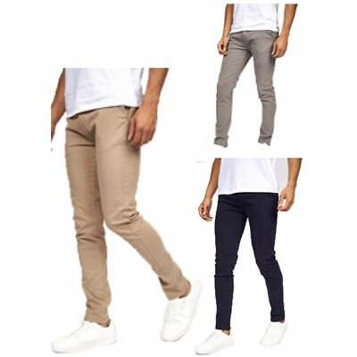 Crosshatch Mens Slim Fit New Chino Trousers • 17.99£