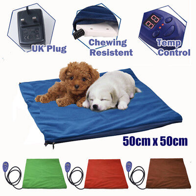 Pet Heat Pad Cat Dog Electric Heat Mat Heated Bed Puppy Whelping Box Waterproof • 23.99£