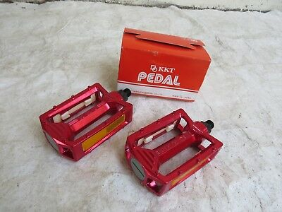 AU193.44 • Buy Kkt 9/16 Red Nos Amx Pedals Bmx Racing Freestyle Cruiser Vintage Bicycle