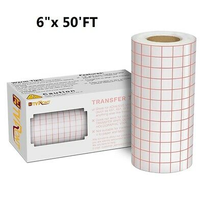 "6""x50'FT Vinyl Transfer Tape Roll Craft Application Paper Film For Signs Sticker • 12.99£"