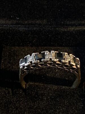 AU170 • Buy 9k Solid Gold Sapphire & Diamond Ring 4.05 G Size R Or 8.5