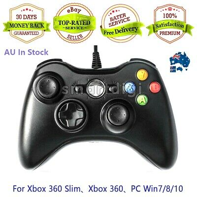 AU29.99 • Buy AU Wired Controller For Microsoft XBOX 360 Game Gamepad Joystick PC Windows