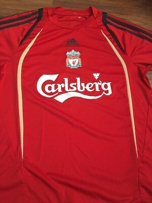 Boys Adidas Liverpool Carlsberg Red Short Sleeve T Shirt 9-11 Years • 8£