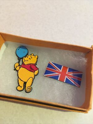 £5 • Buy Pin Badges X2 Winnie The Pooh And Union Jack
